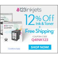 123Inkjets coupon - Click here to redeem