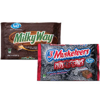 Save $1 on two funsize bags of 3 Musketeers or Milky Way Candy Bars
