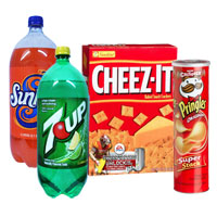 Save $1.50 on one 12-pack or two 2-Liters of 7-Up or related sodas and one box of Cheez-It crackers or Pringles chips