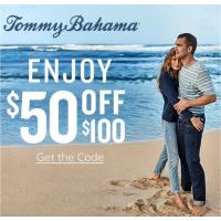 Join the Tommy Bahama Email List and receive code for $50 off your purchase of $100 or more