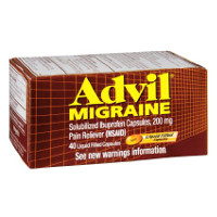 Print a coupon for $2 off one bottle of Advil, 40 ct. or larger