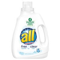 Print a coupon for $1.50 off one All Free Clear Liquid Laundry Detergent, 94.5oz. or larger