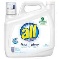 Print a coupon for $1 off any All Free Clear Liquid Laundry Detergent or Mighty Pacs