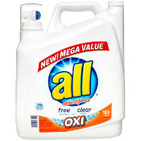 Print a coupon for $1.50 off one 184.5oz Jug of All Oxi Liquid Laundry Detergent