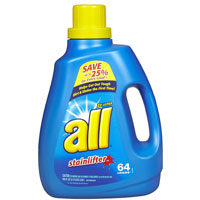 Print a coupon for $0.50 off All detergent