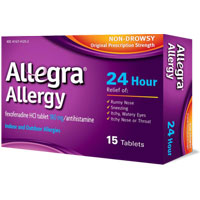 Save $2 on Allegra Allergy (5, 12, 15 ct.), Allegra-D 12-Hour (10 ct.), Allegra-D 24-hour (5 ct.) or Allegra Children's