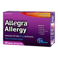 Save $4 on one package of Allegra, Allegra-D 12-Hour or 24-Hour
