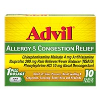 Save $2 on one Advil Congestion Relief Product