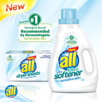 Save $1 on any All Liquid Fabric Softener or Dryer Sheets