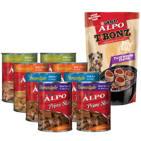 Print a coupon for $1 off any ALPO TBonz Dog Treats when you buy eight cans of ALPO Wet Dog Food