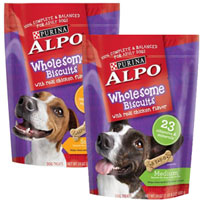 BOGO - Buy one bag of ALPO Wholesome Biscuits, get one bag FREE