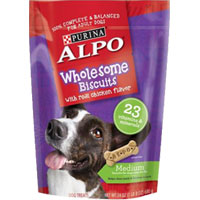 Save $1 on one package of ALPO Wholesome Biscuits