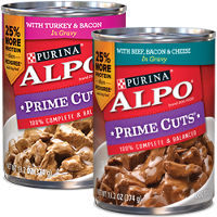 Save $2.50 on 12 cans or one 12ct. variety pack of ALPO Dog Food
