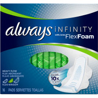 Print a coupon for $0.75 off one pack of Always Infinity Pads