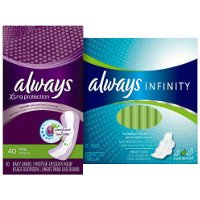 Print a coupon for $1.50 off two packs of Always Pads or Liners