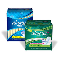 Save $1.50 on any two packages of Always Pads