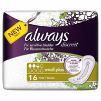 Save $2 on a package of Always Discreet Incontinence Pads