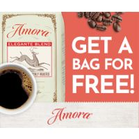 Receive a free Bag of Coffee from Amora, just pay $1 for shipping