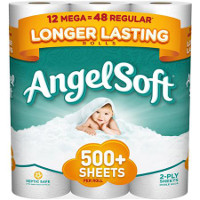 Print a coupon for $1 off a package of Angel Soft Bath Tissue, 12 Mega Rolls or larger