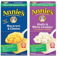 Print a coupon for $0.50 off two packages of Annie's Mac + Cheese