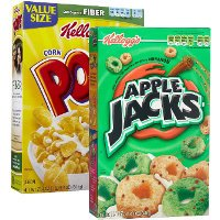 Save $0.50 on one box of Kellogg's Apple Jacks or Corn Pops Cereal