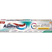 Print a coupon for $1 off Aquafresh Multi Action or Extreme Clean Toothpaste