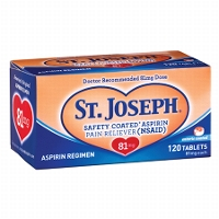 Print a coupon for $4 off two boxes of St. Joseph Low Dose Aspirin, 90 ct. or larger