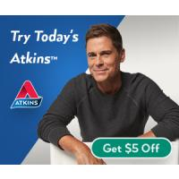 Looking to start a new diet? Get a Free Atkins start up kit that includes a quick-start kit and a $5 off coupon