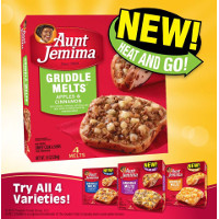 Save $1 on any Aunt Jemima's New Griddle Melts