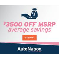 Car Shop now and save an average of $3500 off MSRP at AutoNation