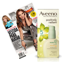 Save $2 when you buy Aveeno Positively Radiant Daily Moisturizer Broad Spectrum SPF 15 and People En Espanol Magazine