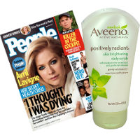 Save $2 when you buy one Aveeno Positively Radiant Skin Brightening Daily Scrub and People Magazine