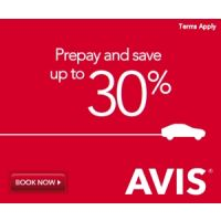 Reserve now and enjoy up to 25% off Avis Car Rental + 5% donation to Make-A-Wish