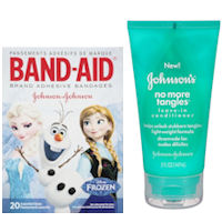 Save $1.25 when you buy Johnson's No More Tangles Hair Care Product and Band-Aid Brand FROZEN Adhesive Bandages