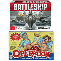 Save $3 when you buy any Operation or Battleship game from Hasbro