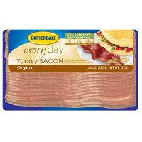 Print a coupon for $0.55 off any package of Butterball Turkey Bacon