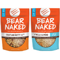 Print a coupon for $0.75 off one bag of Bear Naked Granolas