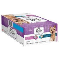 Print a coupon for $4 off a pack of twelve 3.5 oz trays of Purina Bella Wet Dog Food