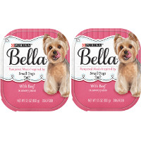 BOGO - Buy one 3.5oz tray of Purina Bella Small Dog Beef in Savory Juices Dog Food, get one free