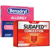 Print a coupon for $1 off one Sudafed PE or Benadryl Ultratabs product