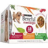 Print a coupon for $1 off Purina Beneful Medleys or IncrediBites Wet Dog Food 12ct variety pack