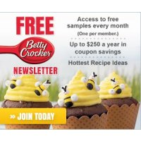 Get great recipes ideas and coupon savings up to $250 per year from Betty Crocker