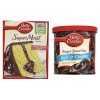 Save $0.75 on two Betty Crocker Ready To Spread Frosting, Supermoist Cake Mix or Supreme Brownie Mixes