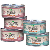 Print a coupon for $1 off any five cans of Purina Beyond wet cat food