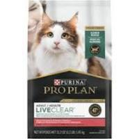 Print a coupon for $5 off a bag of Purina Pro Plan LiveClear Allergen Reducing Dry Cat Food