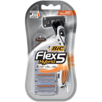 Print a coupon for $4 off one BIC Flex 5 Hybrid razor pack