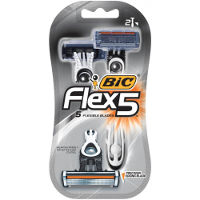 Print a coupon for $6 off two packs of BIC Flex 5 Hybrid Razors