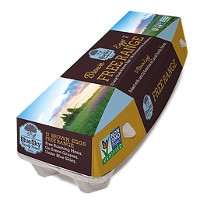 Save $0.50 on any dozen Blue Sky Family Farms Eggs