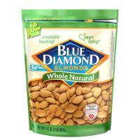 Save $1.50 on any container of Blue Diamond Almonds, 5oz or larger