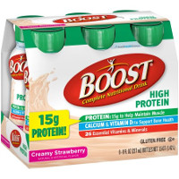 Print a coupon for $5 off two Boost Nutritional Drinks Multipack or Canisters